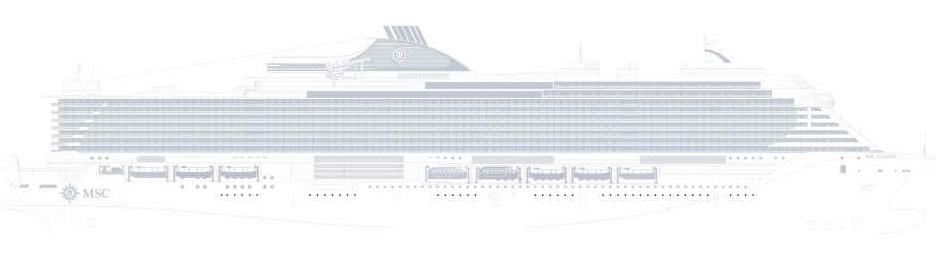 immagine dello spaccato della nave msc seaside della flotta MSC Crociere